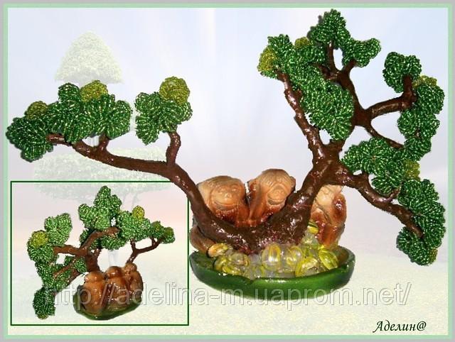 Дерево из бисера - Бонсай
