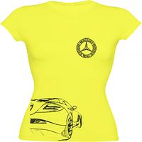 Купить через интернет в Украине женскую белую футболку Mercedes.