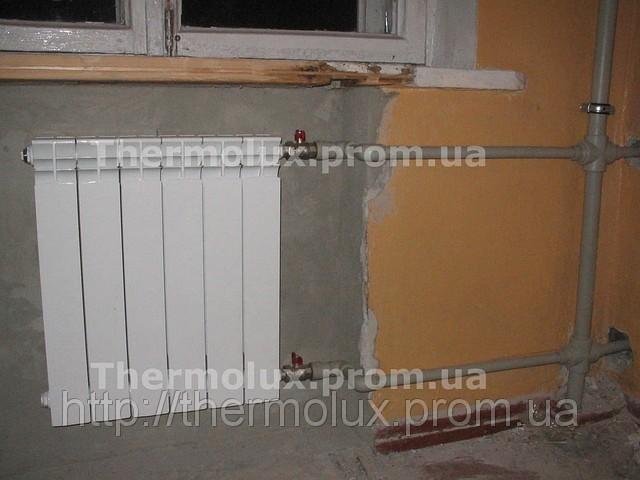 Установка радиаторов отопления, подключение замена