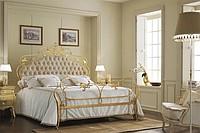 В комплектацию кованой кровати входит 2 спинки, 2 царги (соединяющие...