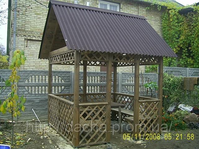 """деревяная беседка 2,5х2,5м (возможны любые размеры и варианты),конструктор  """"собери сам """",чертежи сборки прилагаются..."""