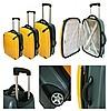 Односторонний чемодан. cъемные перегородки. полупрозрачная крышка из.