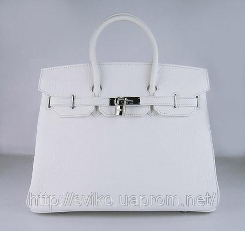 Реплика Hermes Birkin сумки 035 белый (серебряный)