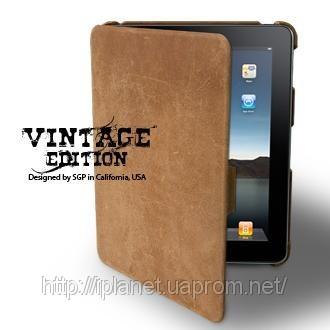 Чехол SGP iPad 3G Wifi Leather Case Vintage Series Brown.