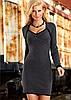 Модель 1-2-30. женское вязанное платье.