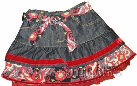 как из старых джинсов сшить дочке комбинезон - Выкройки одежды для детей...