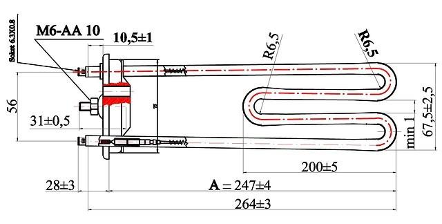 ТЭН 701012 фирмы FER (Турция)