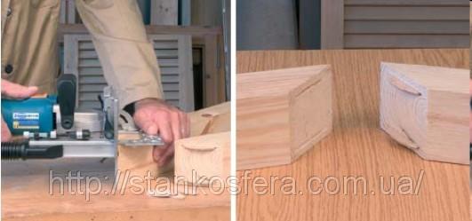 Соединение на плоский шкант в столярных изделиях